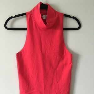 Express One Eleven Red Turtleneck Sleeveless Top M